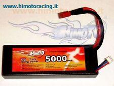 BATTERIA LIPO 5000 mAh 7,4V burst 60C disch 30C 2S AUTO BARCHE HARDCASE HIMOTO
