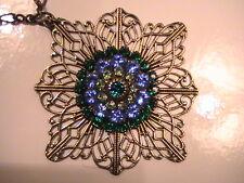 LIZ PALACIOS Swarovski Crystal Flower Designer's Necklace Chain