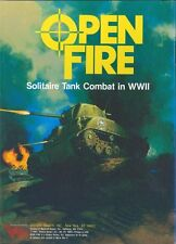 Avalon Hill Open Fire! Solitaire Tank Combat Game PDF Reference Disc + Free P+P