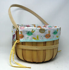 Spritz Woven Chipped Easter Bunny Basket
