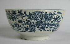 1st Period Dr. Wall Worcester slop bowl. 'Fence' pattern c1765