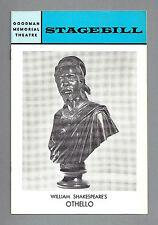 """James Earl Jones """"OTHELLO"""" Len Cariou / Goodman Theatre 1968 Chicago Playbill"""