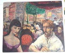Martial Raysse, Le Dôme Café, Paris, Original Abstract Oil Painting, 1950s
