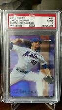 2016 Topps Finest Jacob DeGrom Purple Refractor #'d 82/250 PSA 9