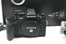 Olympus E-M1 OM-D 16 MP Digitalkamera - Schwarz (Nur Gehäuse) - TOP Zustand OVP