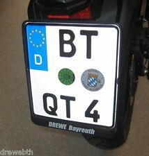 Motorrad Kennzeichenhalter 180x200 Nummernschildhalter Kennzeichen zum Clipsen