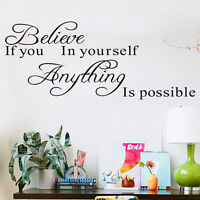 Vinyl Art Room Decor Quote Wall Decal Sticker Bedroom Removable Mural DIY