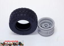 Lego® Technic 15413 / 56145 Reifen Schwarz mit Felge 49,5 x 20 neu Hellgrau NEU