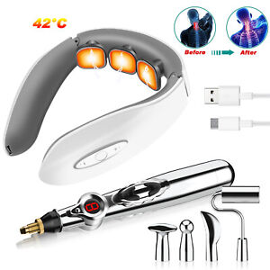 Meridian Electric Acupuncture Pen for Pain Therapy Relief Neck Heating Massager