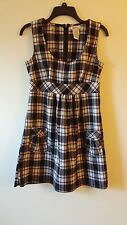 Women's SPEECHLESS 7 Rayon Blend Sleeveless Dress Plaids With Pockets Multicolor
