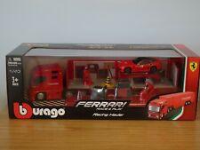 Bburago Ferrari Race Transporter Truck Garage & Car Model Set 31202 1:43 Burago