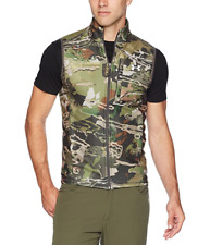 $65 Under Armour ColdGear Hunting Fleece Vest Sz MEDIUM Forest Camo 1316864-940
