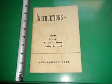 JD651 Vntage Instruction Booklet Wards Supreme Reversible Rotary Sewing Machines