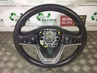 2011 VAUXHALL INSIGNIA STEERING WHEEL MULTIFUNCTION LEATHER PERFORATED