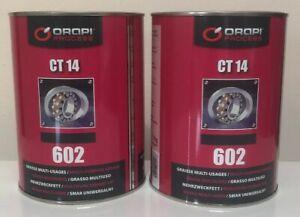 Orapi CT14 602 High Quality Multi purpose Lithium Grease  2 X 1KG Tin