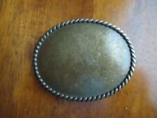 Belt Buckle Copper Toned Oval  Western Cowboy approx. 3.5 x 2.75 inches (S)