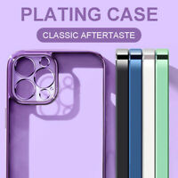 Case For iPhone 12 11 Pro Max XS XR X 7 8 SE 2 Plating ShockProof Silicone Cover