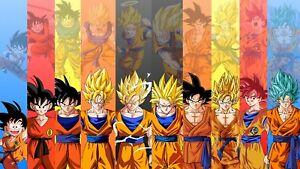 "Son Goku Dragon Ball Super Saiyan Poster 20x12"" 41x24"" Art Silk Print"