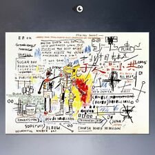 "Jean-Michel Basquiat ""Boxer rebellion"" HD print on canvas wall picture 36x24"""