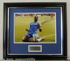 Didier Drogba Signed Framed Champions League Celebration Photo