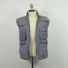 Vintage BANANA REPUBLIC Blue Cotton Canvas HUNTING Utility VEST / S