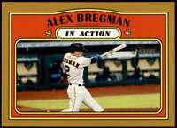 Alex Bregman 2021 Topps Heritage In Action 5x7 Gold Houston Astros  /10