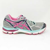 Asics Womens GT 2000 3 T550N Pink Silver Running Shoes Lace Up Low Top Size 10