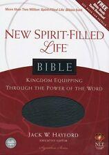 NLT New Spirit Filled Life Bible, Bonded Leather, black
