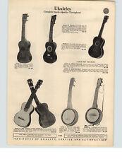 1929 PAPER AD Tonk American Uke Ukulele Bass Tenor LeDomino Guitar Koa Wood