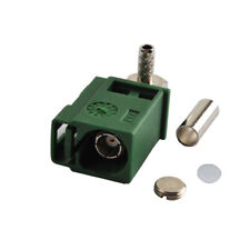 Fakra E Female Jack right angle connecntor Green Car Tv1 for Rg316 Rg174 Cable