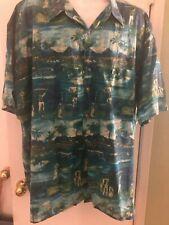Avi Collection by Kahala Hawaiian Shirt SS Golf XXL Aloha Friday cotton