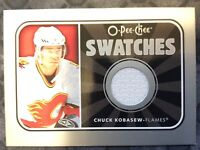 O-Pee-Chee 2006-2007 SWATCHES CHUCK KOBASEW HOCKEY CARD S-CK