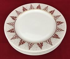 4 Dansk Golden Pine Salad Dessert Plates Christmas Holiday Bangladesh Backstamp