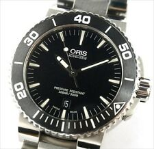 Oris Aquis 300m Divers Automatic Date Watch Ref 733 7653 4154 Black Dial W/Box