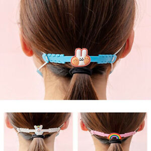 5Pcs Silicone Hook Strap Holder Extension for Mask Ear Protector Anti-tighten`