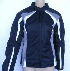 Bilt Motocycle Riding Jacket Womens XS Shoulder Elbow Armor Padded Back Safety