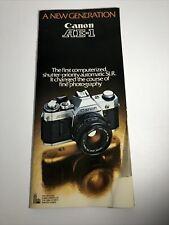"Canon Ae-1 Camera ""A New Generation"" Instruction Manual English *Ships Free*"
