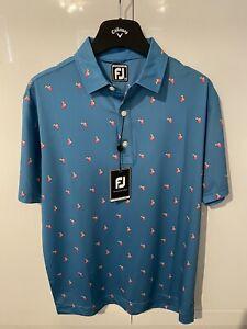 Mens Footjoy Athletic Fit Polo Shirt Medium