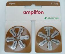 Pile Amplifon per apparecchi acustici modello 312 Zas Amplifon marrone 12 pile