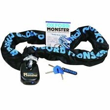 Oxford Monster Motorcycle Bike Thatchem Security Chain and Lock Padlock 1.2M New