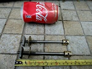 """Vintage 2 Bolts Screws & Nuts Brass & Iron Antique Bed or Old Furniture 5,5"""""""