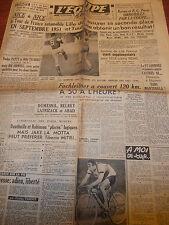 L'EQUIPE FOOTBALL - CYCLISME FACHLEITNER - REIMS OBNUBILES PAR LA COUPE 1950