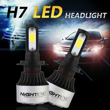 2x Nighteye H7 72W 9000LM AUTO LED LAMPADE FARI HEADLIGHT BULB LUCI BIANCA 6500K