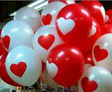 20 PCS Party Balloons Birthday Wedding Celebration Decoration Balloon White/Red