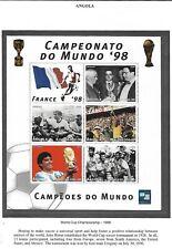 ANGOLA 1997 MNH WORLD CUP SOCCER CHAMPIONSHIP, FRANCE