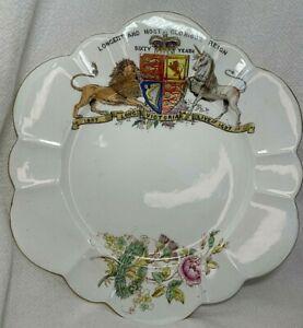 "1897 QUEEN VICTORIA Old Foley China Diamond Jubilee Commemorative 7"" Plate"