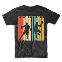 Vintage Retro 1970's Style Basketball Player Sports T-Shirt