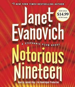 Janet Evanovich NOTORIOUS NINETEEN (Stephanie Plum) Unabridged CD NEW FAST Ship!