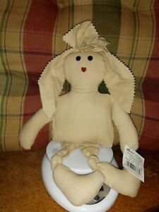 "12"" Darice Antique Muslin Bumpkins Bunny Craft Doll"