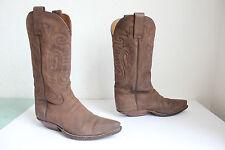 Sendra Western Cowboy Boots Stiefel  Voll Echtleder Braun Eu:38 -Uk:5 aus Spain